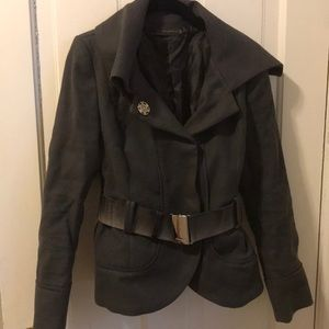 Zara woman gray belted jacket
